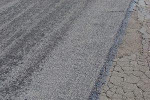Powierzchniowe utrwalenie nawierzchni jezdni emulsją asfaltową i grysem bazaltowym